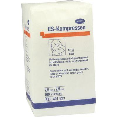 ES-KOMPRESSEN unsteril 7,5x7,5 cm 8fach